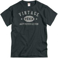 Dark Grey Vintage Distressed T-Shirt