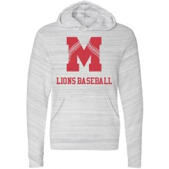 Moore Lions Grey Marbled Hoodie with Red
