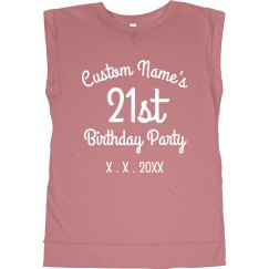 Customizable 21st Birthday Design