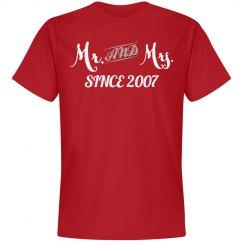 Mr & Mrs since 2007