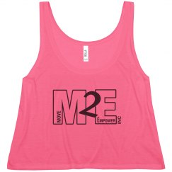 M2E Neon Pink Flowy Tank