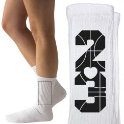 Trendy Basketball Girlfriend or B-Ball Player Socks