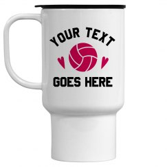 Custom Volleyball Travel Mug