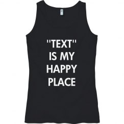 Customize happy place text