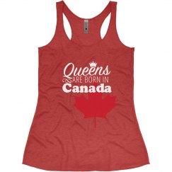 Queens are born in Canada