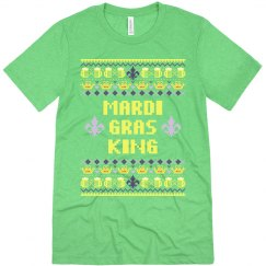 Mardi Gras Ugly Sweater Tee Mens