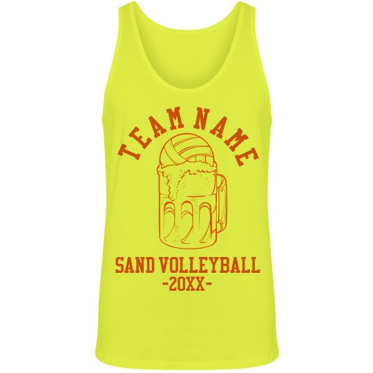 a9b8410939b56 Sand Volleyball Beer Unisex Jersey Neon Tank Top
