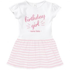 Toddler Birthday Girl Ruffle Dress