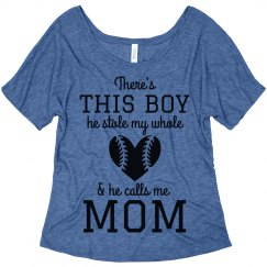 Trendy Custom Baseball Mom Fan