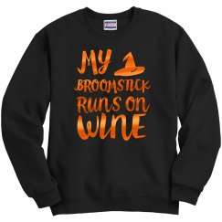 Orange Shiny Broomstick Wine
