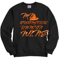 Orange Shiny Broomstick Wine