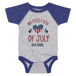 My First July Fourth Baby Bodysuit