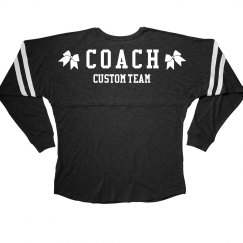 Custom Cheer Coach Slub Jersey