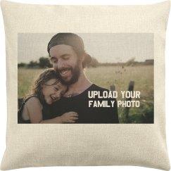 Family Photo Custom Pillow