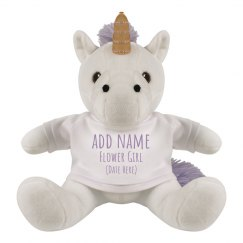 Cute Unicorn Flower Girl Custom Gift