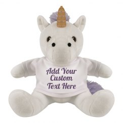 Cute Custom Unicorn Stuffed Animal