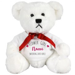 Flower Girl Heart Custom Bear