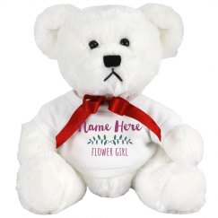 Custom Vine Flower Girl Bear
