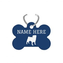 Custom Dog Silhouette Tag