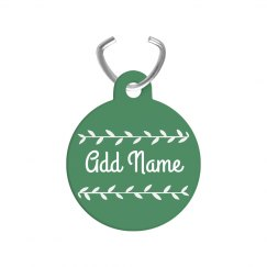 Add Name Custom Vine Dog Tag