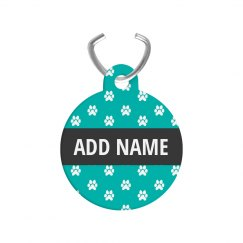 Paw Print Custom Pet Name