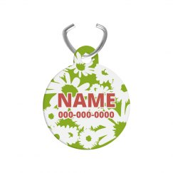 Printed Floral Custom Pet Name