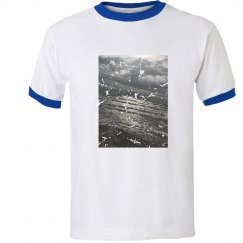 Men's distressed ocean shirt