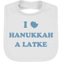 Happy Hanukkah Baby Bib