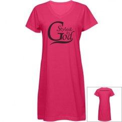 SBG Misses V-Neck Coverup Dress - Hot Pink