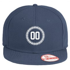 Custom Number Baseball Stitch Flat Bill Hat