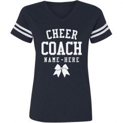 Sporty Custom Cheer Coach V-Neck