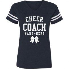Sporty Custom Cheer Coach V-Neck