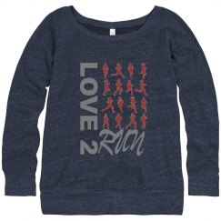 Love 2 Run sweatshirt