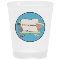 Frosted Literary Lushes Shot Glass