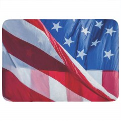 American Flag Bath Mat