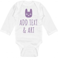 Custom Easter Long Sleeve Bodysuit