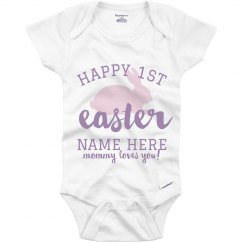Custom Happy 1st Easter Onesie