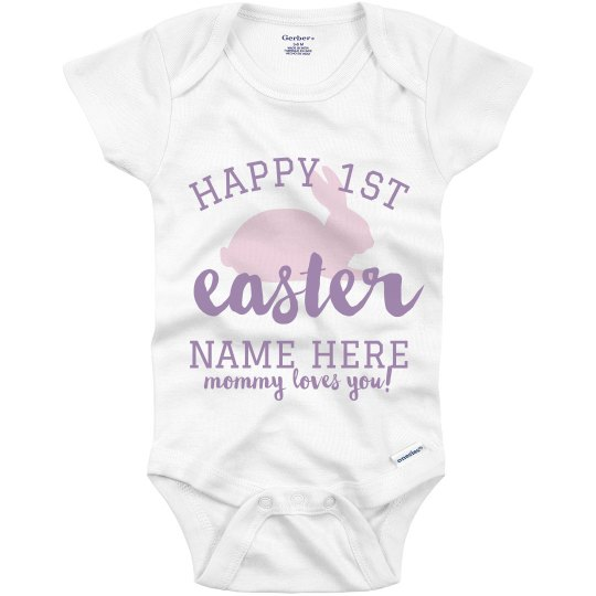 Cute Easter Baby Kids Onesie Outfit Customizable Your Name Here Add Your Text Easter Onesie Toddler Kids Custom Easter Bunny Kid/'s Shirt