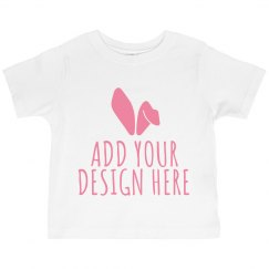Custom Easter Toddler Ruffle Tee
