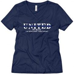 Navy V-Neck Tee United