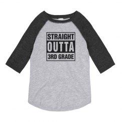 Straight Outta 3rd Grade Raglan