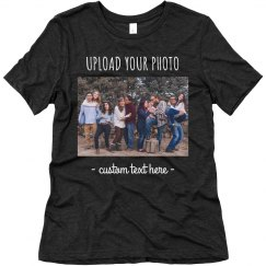 Custom Group Photo Upload Triblend Tee