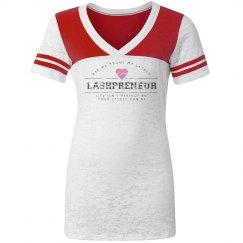 Lashpreneur Varsity V-Neck