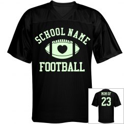 Glow At Football Night Games Football Mom Custom Back