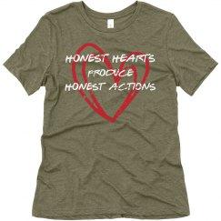 Honest hearts produce honest actions