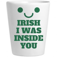 Frisky Irish Whiskey Shot Glass