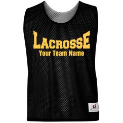 Lacrosse Logo Custom Team Name Practice Pinnie