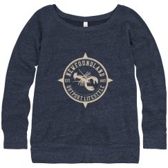 Slouchy Newfoundland Outport Lifestyle Lobster Sweater