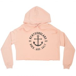 Newfoundland Rock and Salt Relaxed Crop Hoodie