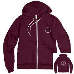 Rock and Salt zip up hoodie